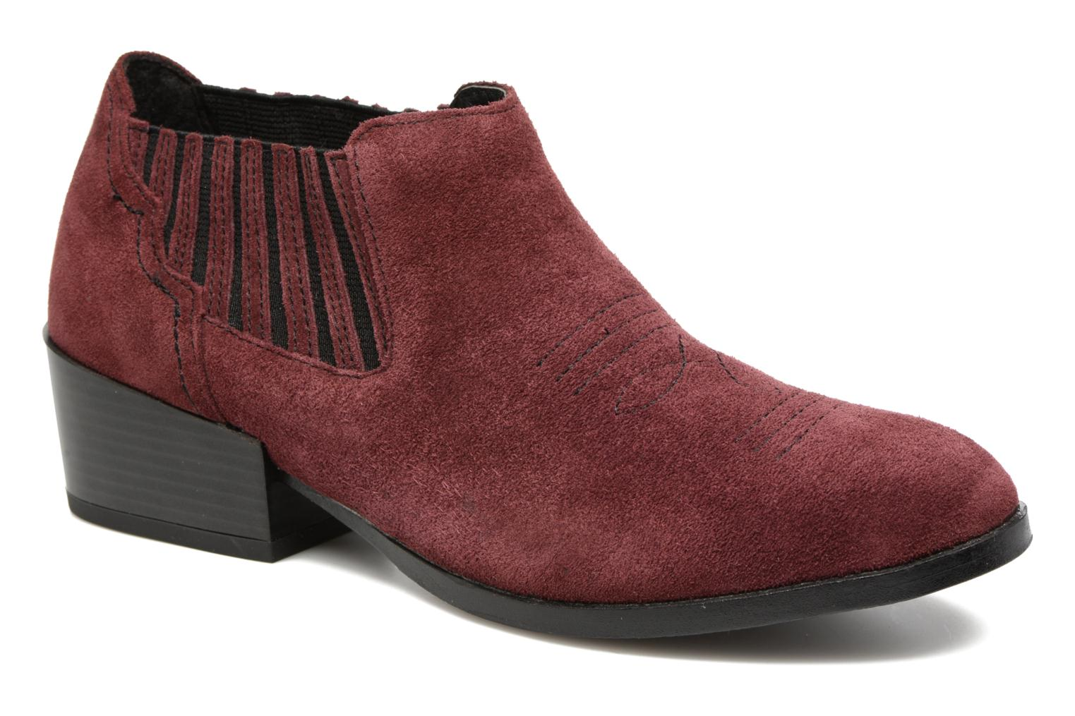 Bottines et boots Vero Moda Western Leather Low Boot Bordeaux vue détail/paire