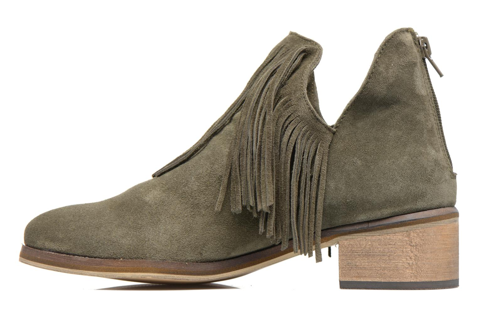 Laure Leather Boot Ivy green