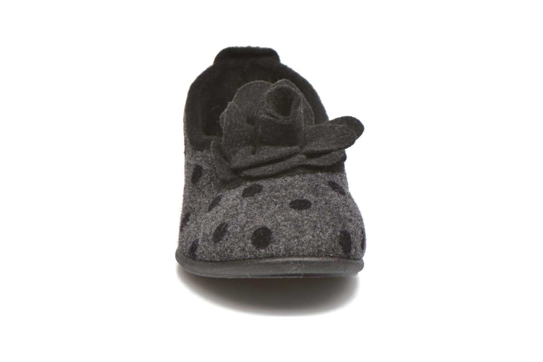 Chaussons Rondinaud Aclou Gris vue portées chaussures