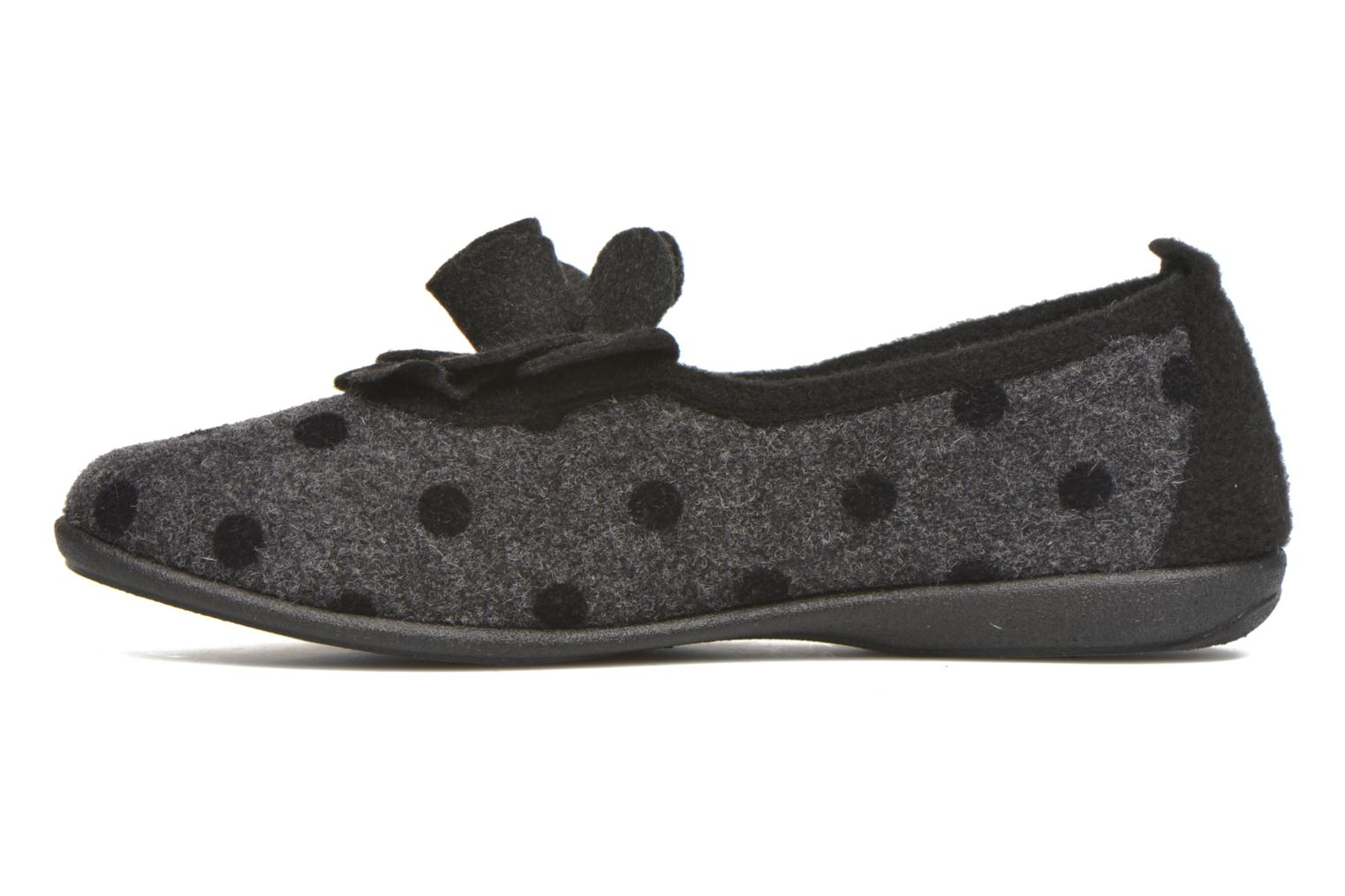 Chaussons Rondinaud Aclou Gris vue face