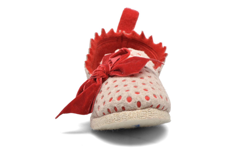 Chaussons Rondinaud Lavit Beige vue portées chaussures
