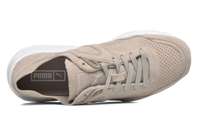 Sneaker Puma R698 Soft Pack beige ansicht von links