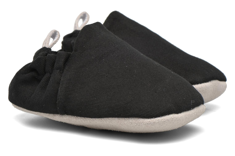 Pantofole Poco Nido Plain Nero modello indossato