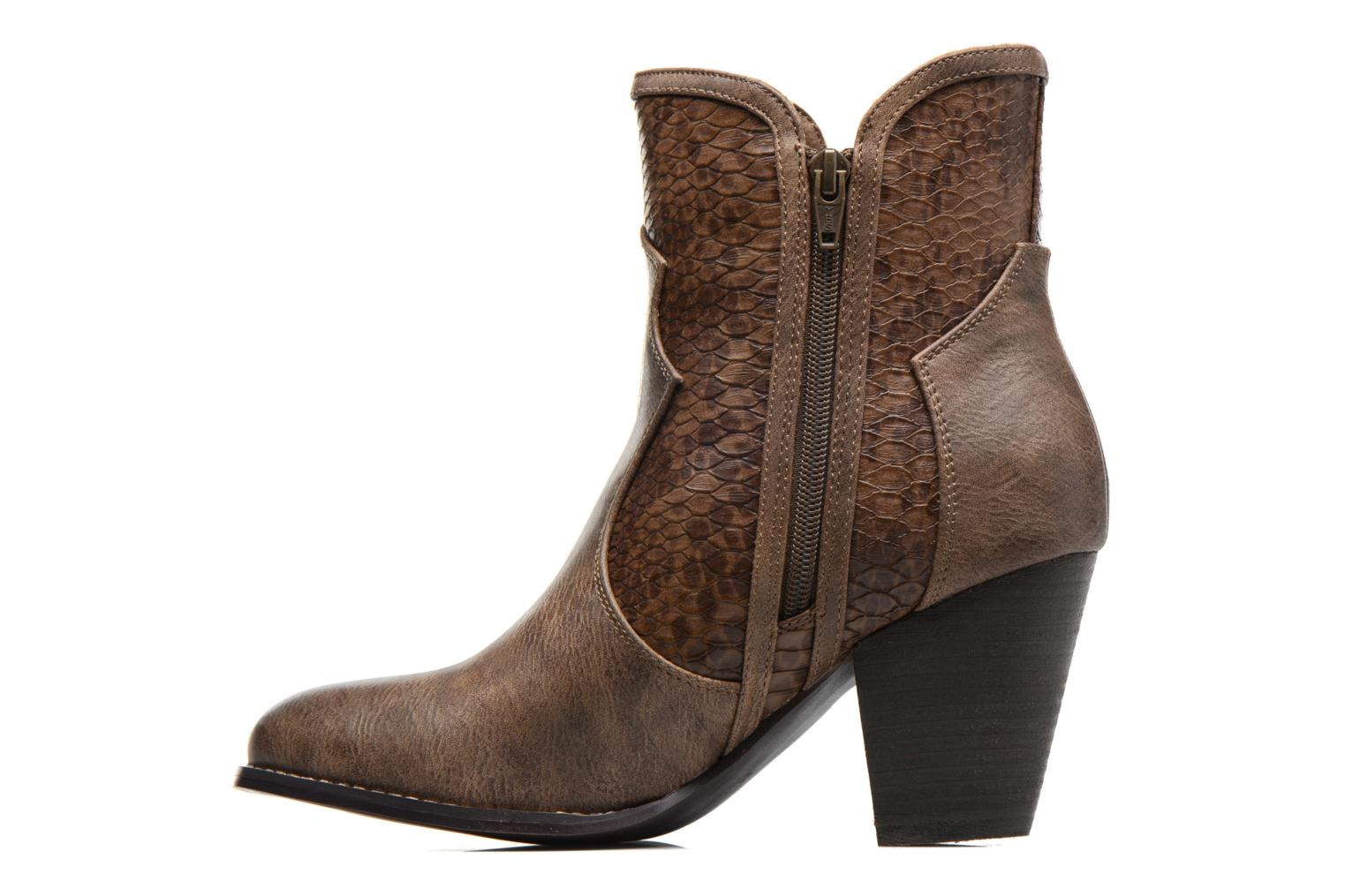 Ankle boots Kaporal Pim Brown front view
