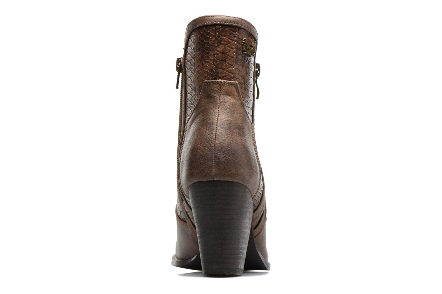 Ankle boots Kaporal Pim Brown view from the right
