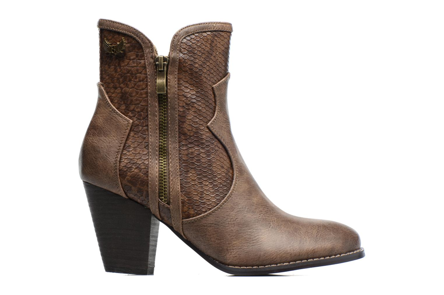 Ankle boots Kaporal Pim Brown back view