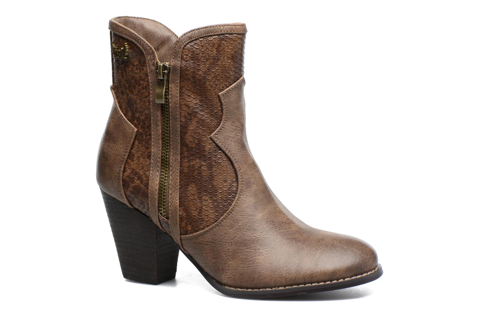 Ankle boots Kaporal Pim Brown detailed view/ Pair view