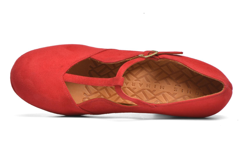 Zapatos de tacón Chie Mihara Ruana Rojo vista lateral izquierda