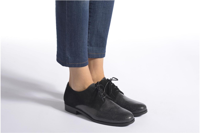 Chaussures à lacets HE Spring Morgan Bleu vue bas / vue portée sac