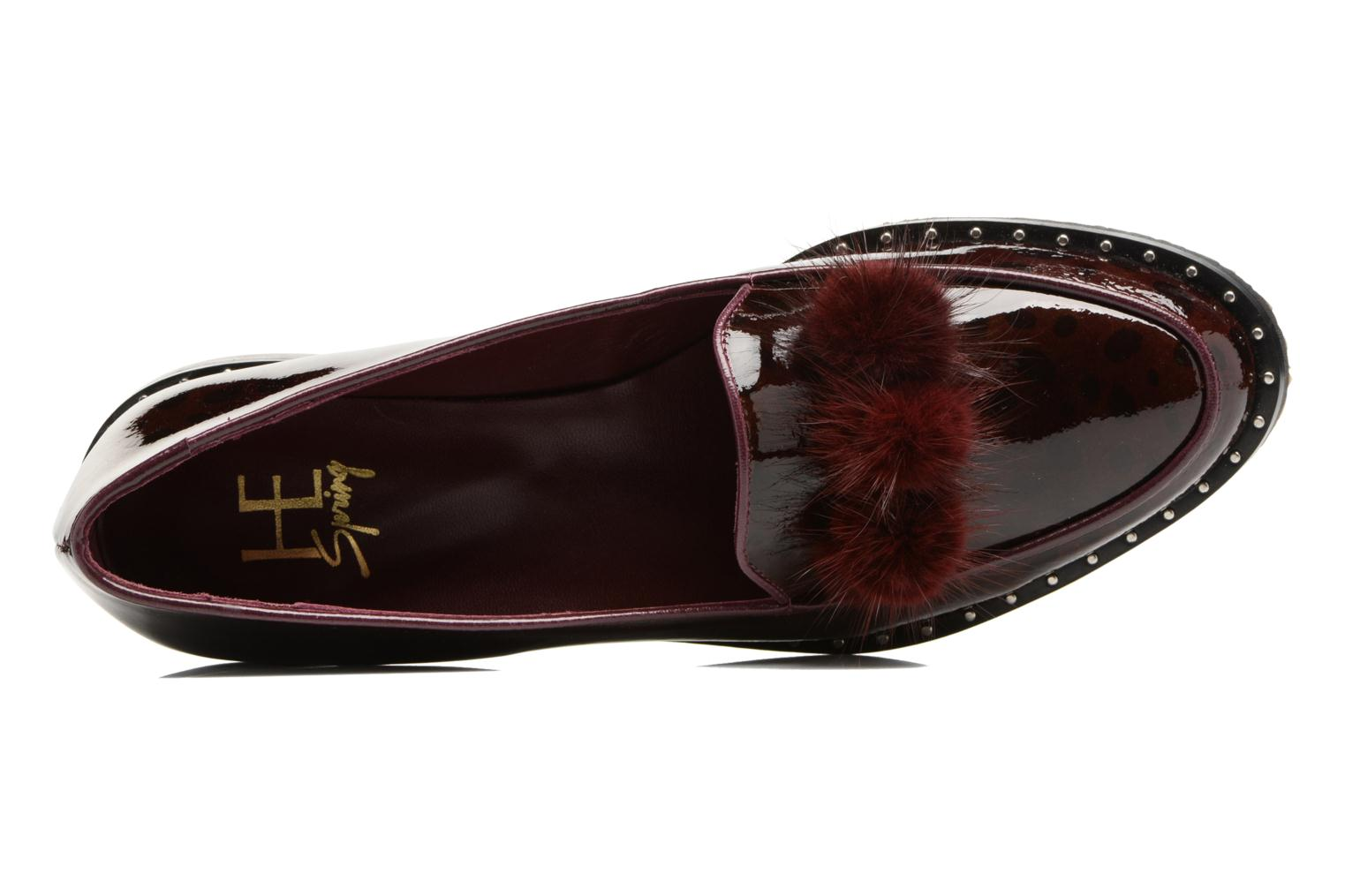 Loafers HE Spring Marina Burgundy view from the left