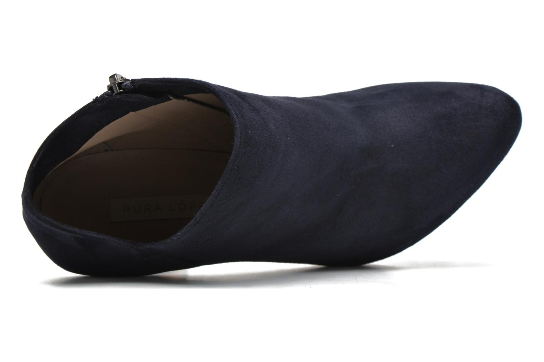 Bottines et boots Pura Lopez Louana Bleu vue gauche