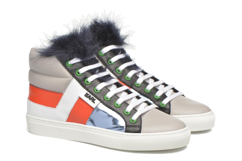 Baskets Karl Lagerfeld K Pop Glitter Creeper Multicolore vue 3/4
