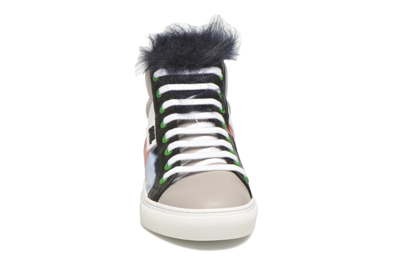 Baskets Karl Lagerfeld K Pop Glitter Creeper Multicolore vue portées chaussures