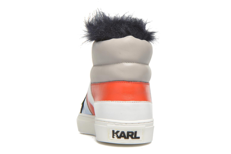 Baskets Karl Lagerfeld K Pop Glitter Creeper Multicolore vue droite