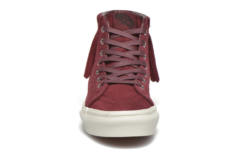Sneakers Vans SK8-Hi Moc K Bordò modello indossato