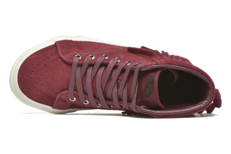 Sneakers Vans SK8-Hi Moc K Bordò immagine sinistra