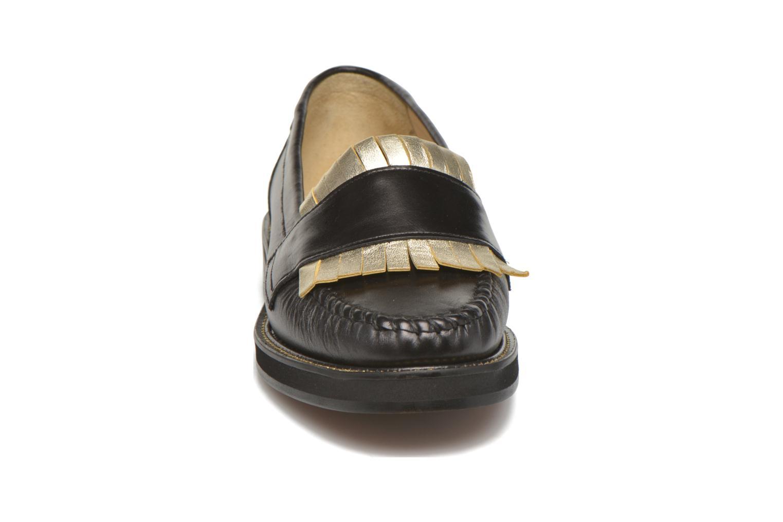 Mocassins MAURICE manufacture Pamela Noir vue portées chaussures