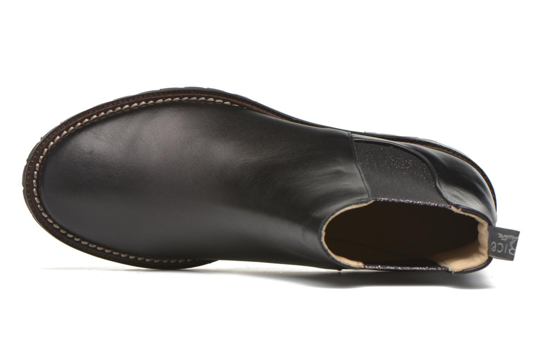 Prudenzio gaucho noir elastique or