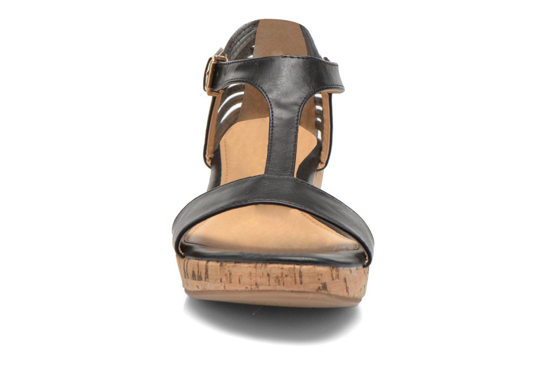 Sandales et nu-pieds Divine Factory Wompa Noir vue portées chaussures
