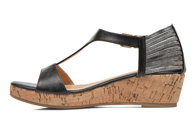 Sandales et nu-pieds Divine Factory Wompa Noir vue face