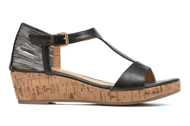 Sandales et nu-pieds Divine Factory Wompa Noir vue derrière