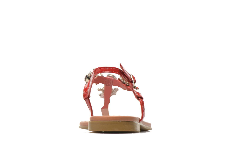 Sandales et nu-pieds Buffalo Manzi Rouge vue droite