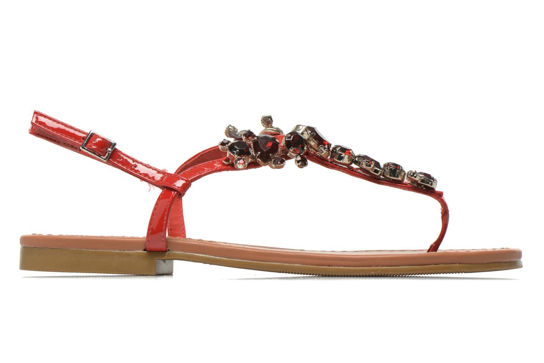 Sandales et nu-pieds Buffalo Manzi Rouge vue derrière