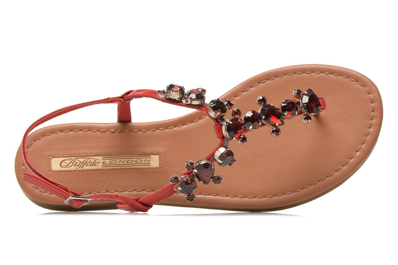 Sandales et nu-pieds Buffalo Manzi Rouge vue gauche