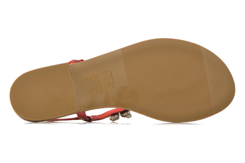 Sandales et nu-pieds Buffalo Manzi Rouge vue haut