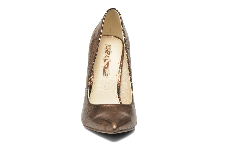 Escarpins Buffalo Kira Or et bronze vue portées chaussures