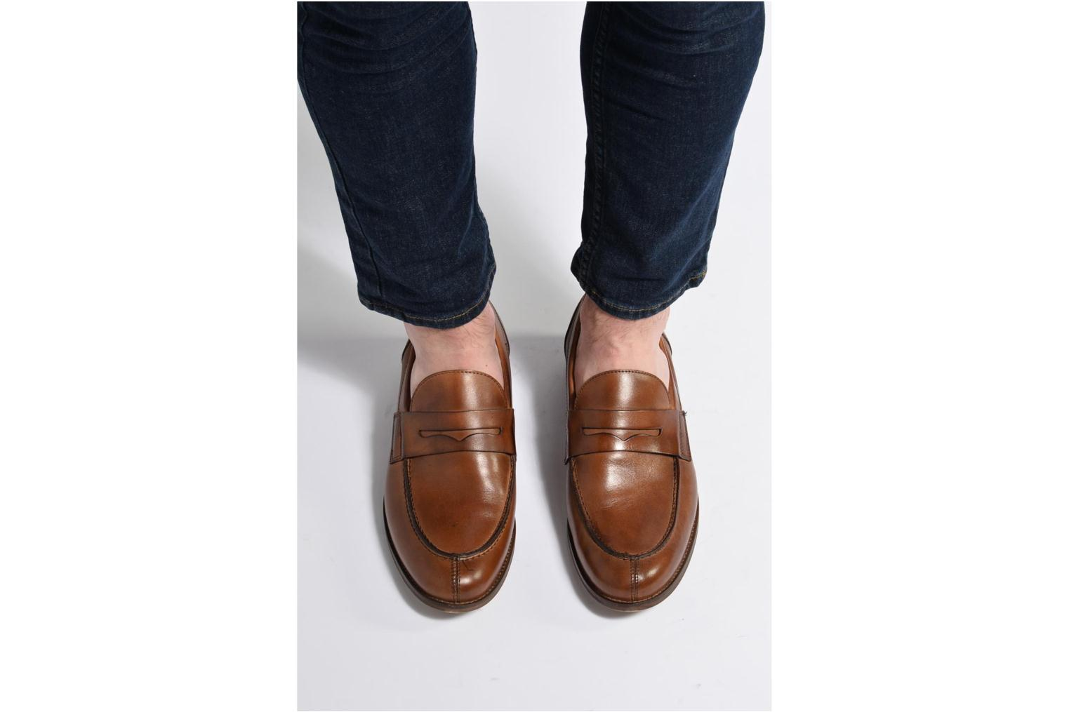 Loafers Marvin&co Nantlle Black view from underneath / model view