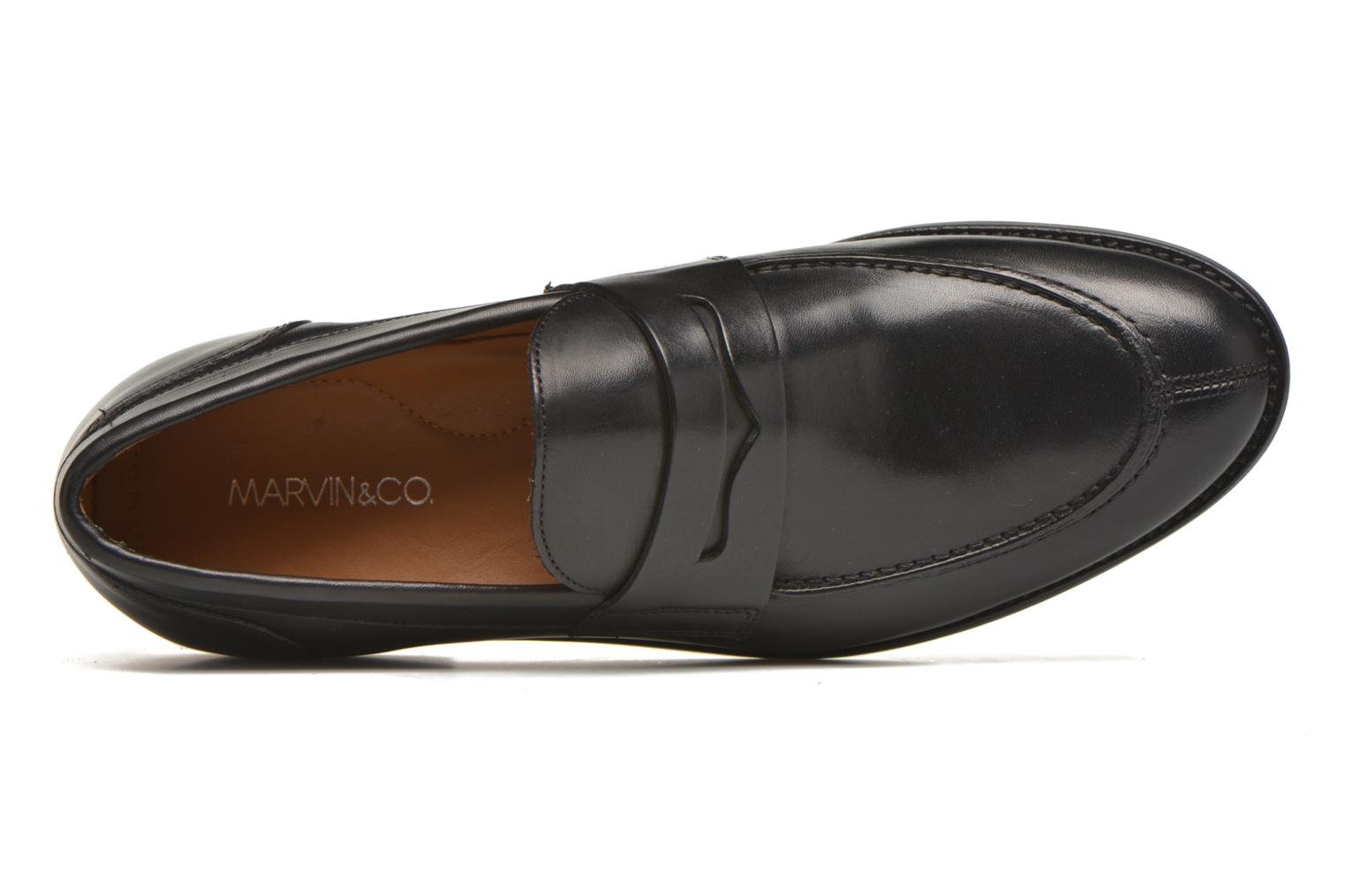 Mocasines Marvin&Co Nantlle Negro vista lateral izquierda