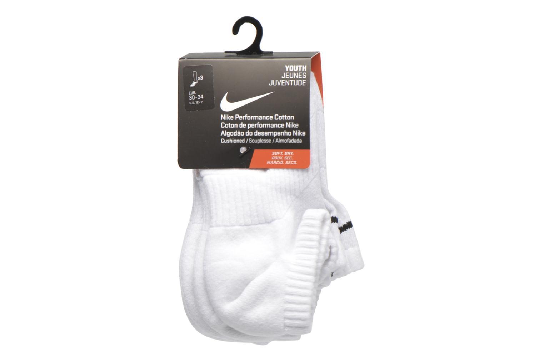 Kids' Nike Cotton Cushion No-Show Sock (3 Pair) WHITE(BLACK)