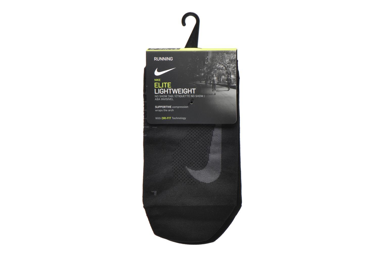 Sokken en panty's Nike Nike Elite Lightweight No-Show Tab Running Sock Zwart achterkant