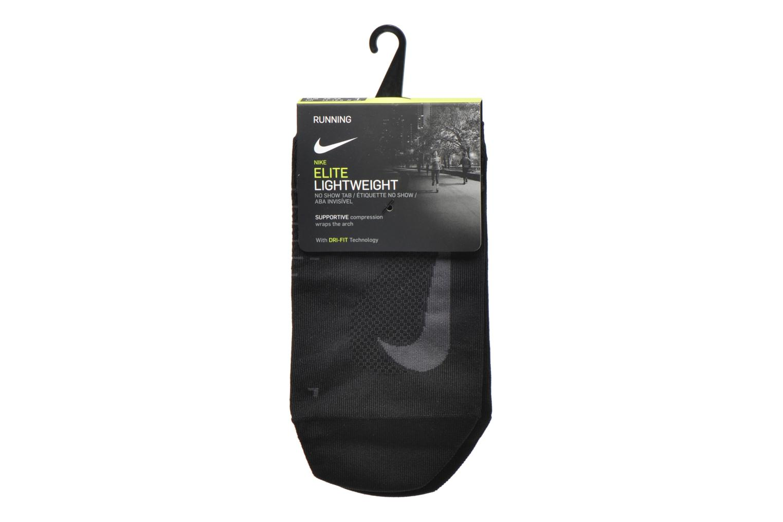 Socks & tights Nike Nike Elite Lightweight No-Show Tab Running Sock Black back view