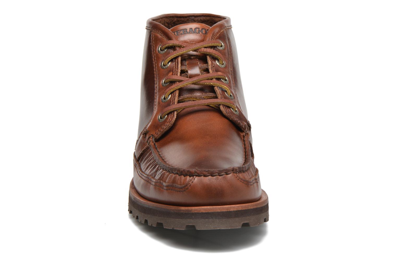 Boots Sebago Vershire Chukka Brun bild av skorna på