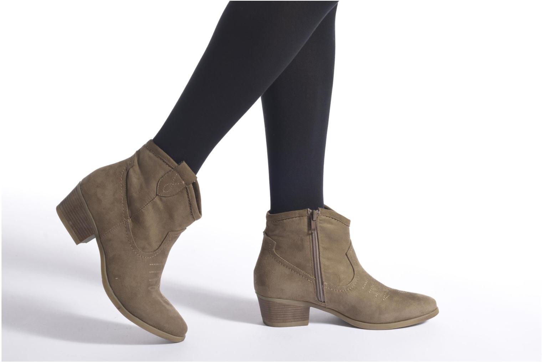 Bottines et boots I Love Shoes THOVE Marron vue bas / vue portée sac