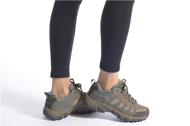 Sportschuhe Merrell Ridge Pass Bolt W braun ansicht von unten / tasche getragen