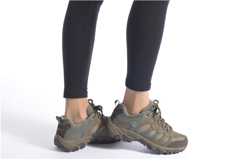 Chaussures de sport Merrell Ridge Pass Bolt W Marron vue bas / vue portée sac