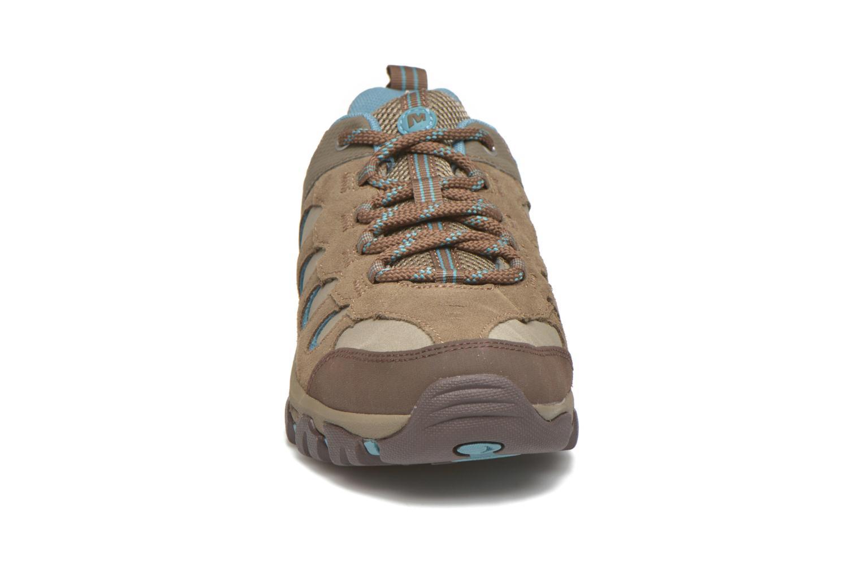 Chaussures de sport Merrell Ridge Pass Bolt W Marron vue portées chaussures