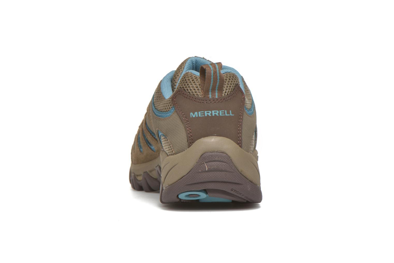 Chaussures de sport Merrell Ridge Pass Bolt W Marron vue droite