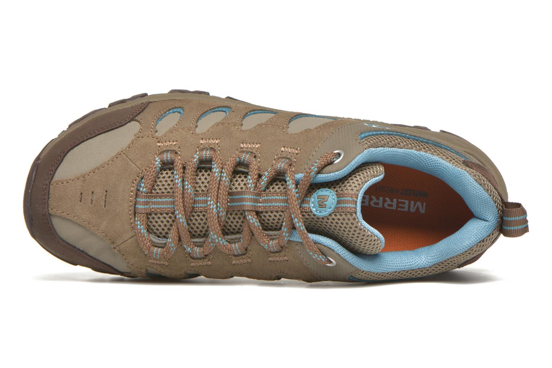 Chaussures de sport Merrell Ridge Pass Bolt W Marron vue gauche