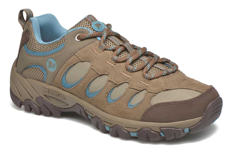Chaussures de sport Merrell Ridge Pass Bolt W Marron vue détail/paire