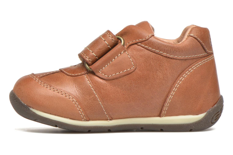 Chaussures à scratch Geox B Each Boy B540BD Marron vue face