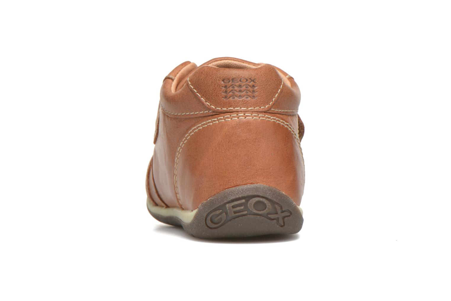 Velcro shoes Geox B Each Boy B540BD Brown view from the right