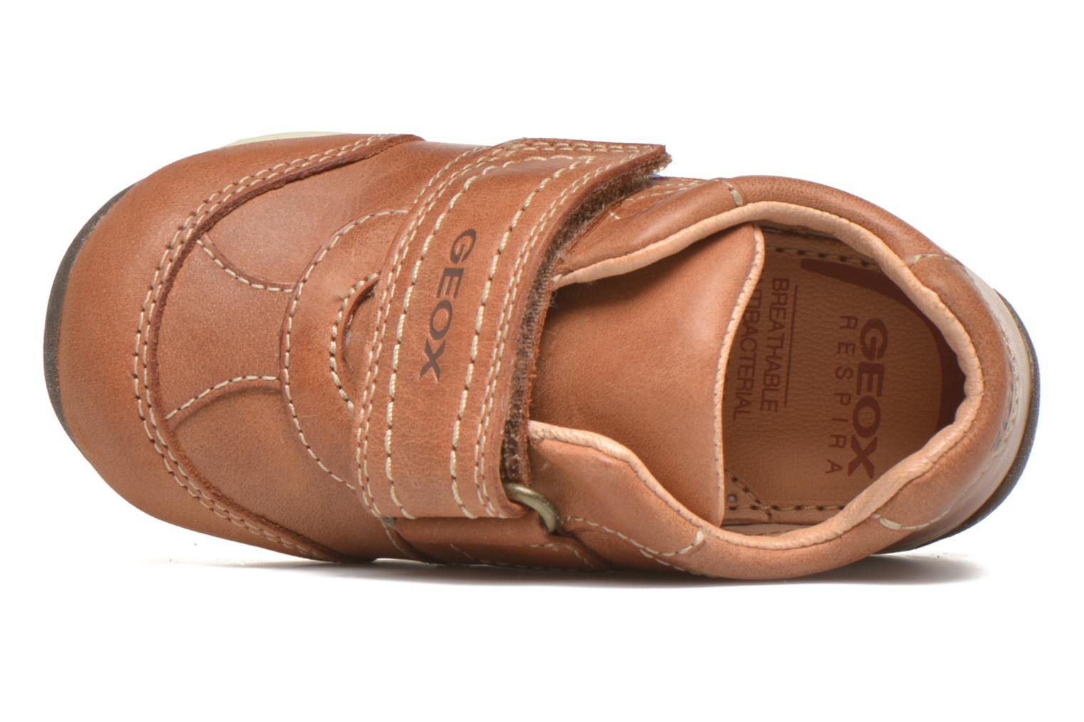 Velcro shoes Geox B Each Boy B540BD Brown view from the left