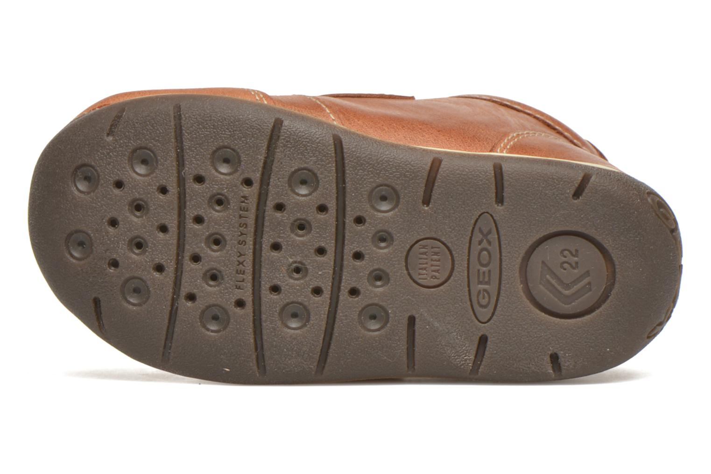 Chaussures à scratch Geox B Each Boy B540BD Marron vue haut