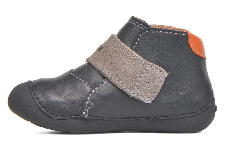 Chaussures à scratch Geox B Tutim B5439A Bleu vue face