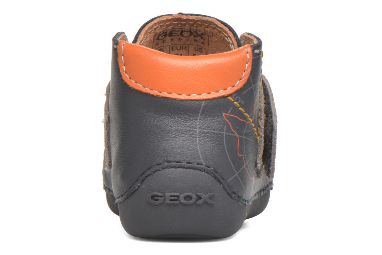 Chaussures à scratch Geox B Tutim B5439A Bleu vue droite