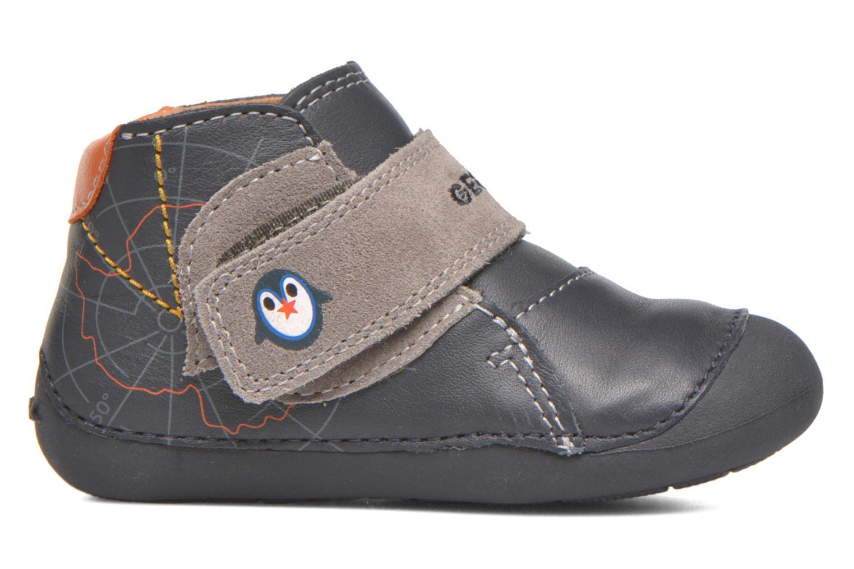 Chaussures à scratch Geox B Tutim B5439A Bleu vue derrière